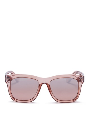 Main View - Click To Enlarge - VALENTINO - 'Rockstud' square frame acetate sunglasses
