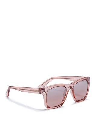 Figure View - Click To Enlarge - VALENTINO - 'Rockstud' square frame acetate sunglasses