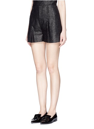 Front View - Click To Enlarge - alice + olivia - Pleat front high waist shorts