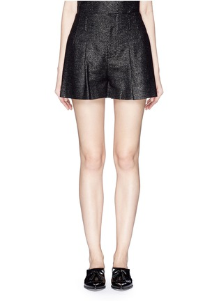 Main View - Click To Enlarge - alice + olivia - Pleat front high waist shorts