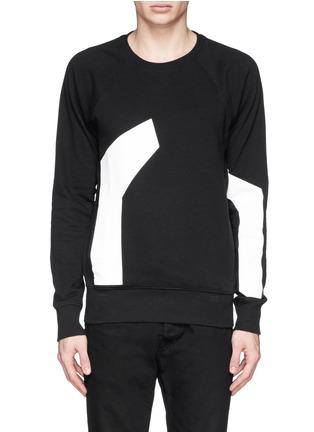 Main View - Click To Enlarge - SIKI IM / DEN IM - Contrast irregular shape print cotton sweatshirt