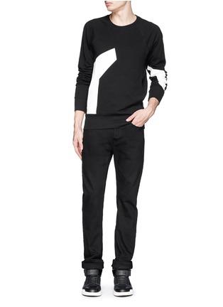 Figure View - Click To Enlarge - SIKI IM / DEN IM - Contrast irregular shape print cotton sweatshirt