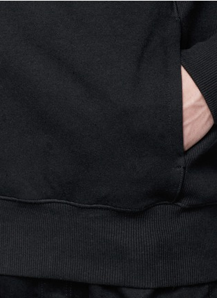 Detail View - Click To Enlarge - SIKI IM / DEN IM - Mock funnel neck cotton hoodie