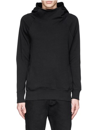 Main View - Click To Enlarge - SIKI IM / DEN IM - Mock funnel neck cotton hoodie