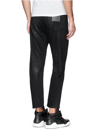 Back View - Click To Enlarge - SIKI IM / DEN IM - 'Peg' sheen denim cropped jeans