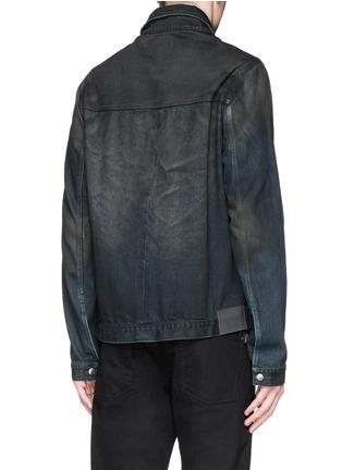 Back View - Click To Enlarge - SIKI IM / DEN IM - Dye cotton selvedge denim jacket