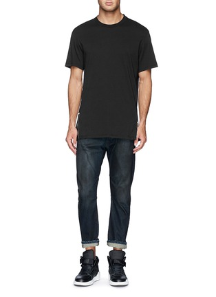 Front View - Click To Enlarge - SIKI IM / DEN IM - 'Peg' gradient wash denim cropped jeans