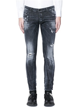 Detail View - Click To Enlarge - Dsquared2 - 'Clement' shot wash slim fit jeans
