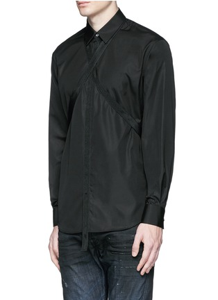 Front View - Click To Enlarge - Dsquared2 - Strap collar cotton shirt