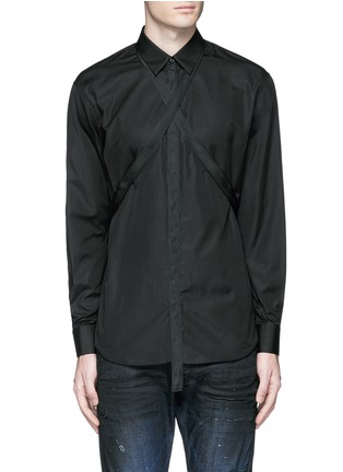 Main View - Click To Enlarge - Dsquared2 - Strap collar cotton shirt