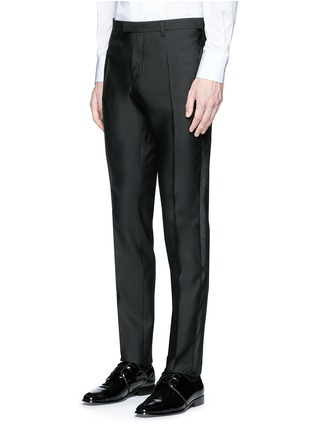 Detail View - Click To Enlarge - 71465 - 'Beverly Hills' satin trim wool-silk tuxedo suit