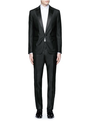 Main View - Click To Enlarge - 71465 - 'Beverly Hills' satin trim wool-silk tuxedo suit