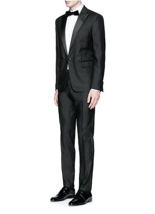 Figure View - Click To Enlarge - 71465 - 'Beverly Hills' satin trim wool-silk tuxedo suit