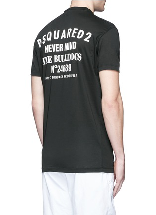 Back View - Click To Enlarge - Dsquared2 - Multi zip T-shirt