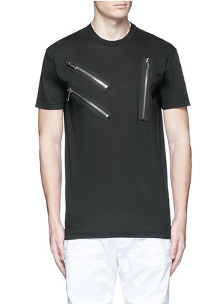 Main View - Click To Enlarge - Dsquared2 - Multi zip T-shirt