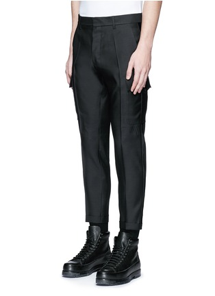 Front View - Click To Enlarge - Dsquared2 - 'Admiral' wool-silk evening pants