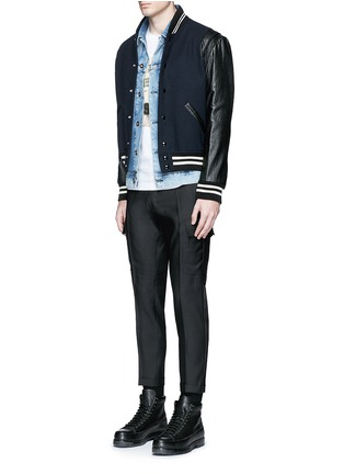 Figure View - Click To Enlarge - Dsquared2 - 'Admiral' wool-silk evening pants