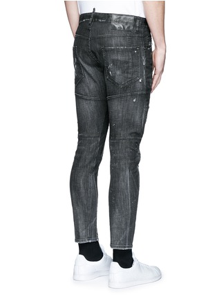Back View - Click To Enlarge - Dsquared2 - 'Clement' distressed slim fit jeans