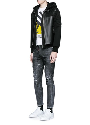 Figure View - Click To Enlarge - Dsquared2 - 'Clement' distressed slim fit jeans