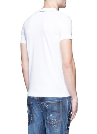Back View - Click To Enlarge - Dsquared2 - Textured print T-shirt