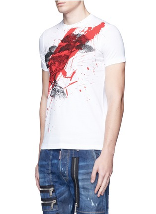 Front View - Click To Enlarge - Dsquared2 - Textured print T-shirt