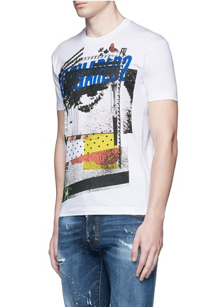 Front View - Click To Enlarge - Dsquared2 - Eye print T-shirt