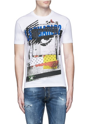 Main View - Click To Enlarge - Dsquared2 - Eye print T-shirt