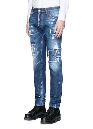 Front View - Click To Enlarge - 71465 - 'Cool Guy' rip and repair jeans