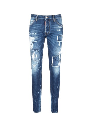 Main View - Click To Enlarge - 71465 - 'Cool Guy' rip and repair jeans