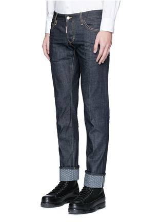 Front View - Click To Enlarge - 71465 - 'Slim' rolled cuff jeans