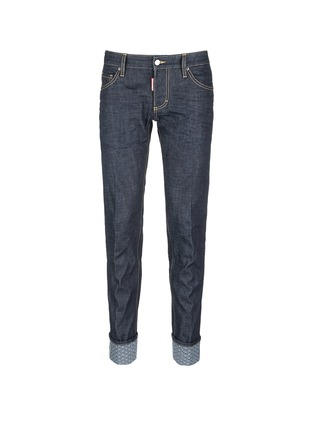 Main View - Click To Enlarge - 71465 - 'Slim' rolled cuff jeans