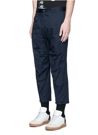 Front View - Click To Enlarge - Dsquared2 - 'Tizzy' cropped cotton chinos