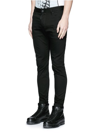 Front View - Click To Enlarge - 71465 - 'Twiggy Boy' zip cuff slim fit jeans