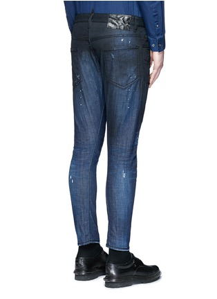 Back View - Click To Enlarge - Dsquared2 - 'Sexy Twist' rip and repair slim fit jeans
