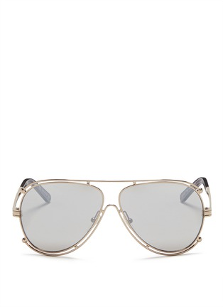 Main View - Click To Enlarge - CHLOÉ - Metal outline aviator sunglasses