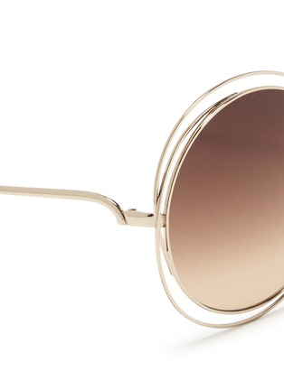 Detail View - Click To Enlarge - Chloé - 'Carlina' overlap wire rim round sunglasses