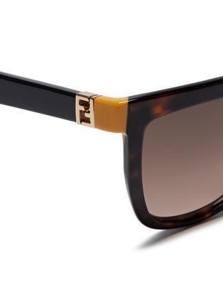 Detail View - Click To Enlarge - FENDI - Colourblock temple tortoiseshell acetate sunglasses