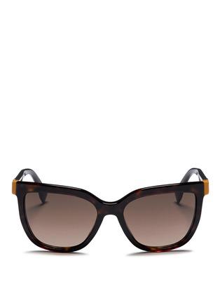 Main View - Click To Enlarge - FENDI - Colourblock temple tortoiseshell acetate sunglasses