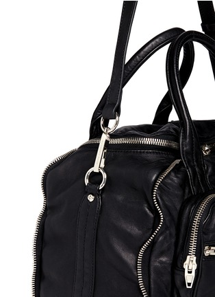 Detail View - Click To Enlarge - ALEXANDERWANG - 'Eugene' washed leather zip satchel