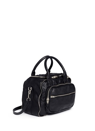 Front View - Click To Enlarge - ALEXANDERWANG - 'Eugene' washed leather zip satchel