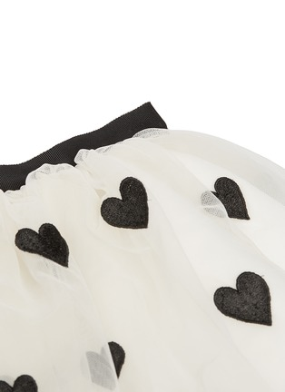 Detail View - Click To Enlarge - alice + olivia - Heart appliqué tulle kids skirt