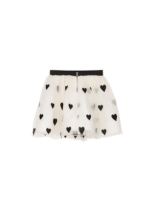 Figure View - Click To Enlarge - alice + olivia - Heart appliqué tulle kids skirt