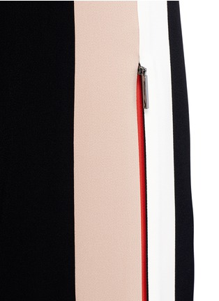 Detail View - Click To Enlarge - MSGM - Double stripe outseam zip cady pants