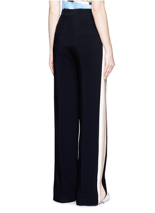 Back View - Click To Enlarge - MSGM - Double stripe outseam zip cady pants