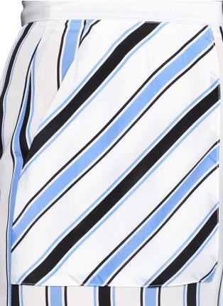 Detail View - Click To Enlarge - MSGM - Multi stripe silk wide leg pants