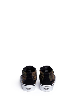 Back View - Click To Enlarge - Vans - 'SK8-Mid Reissue V' camouflage canvas suede kids sneakers