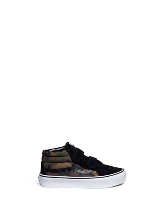 Main View - Click To Enlarge - Vans - 'SK8-Mid Reissue V' camouflage canvas suede kids sneakers