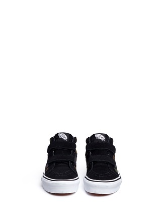 Figure View - Click To Enlarge - Vans - 'SK8-Mid Reissue V' camouflage canvas suede kids sneakers