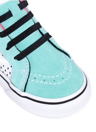 Detail View - Click To Enlarge - Vans - 'SK8-Hi Zip' star print canvas suede toddler sneakers