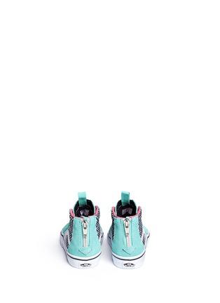 Back View - Click To Enlarge - Vans - 'SK8-Hi Zip' star print canvas suede toddler sneakers